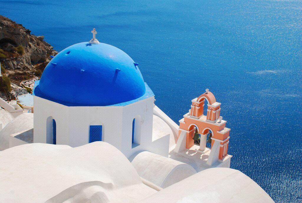 Chiesa vita mare Santorini