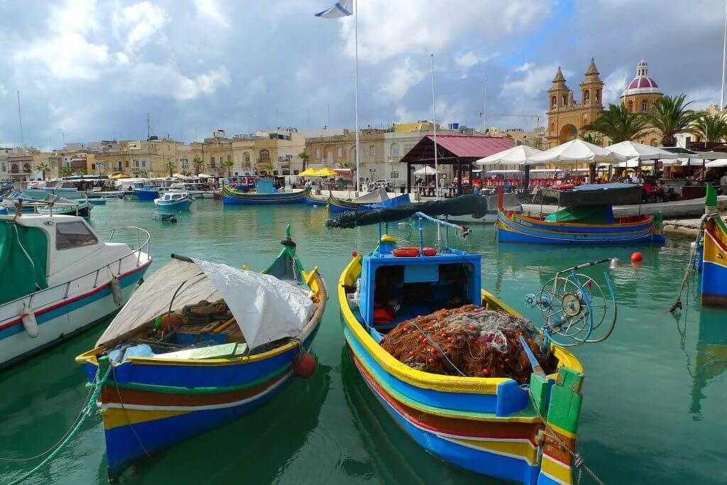 barche pescatori a Malta
