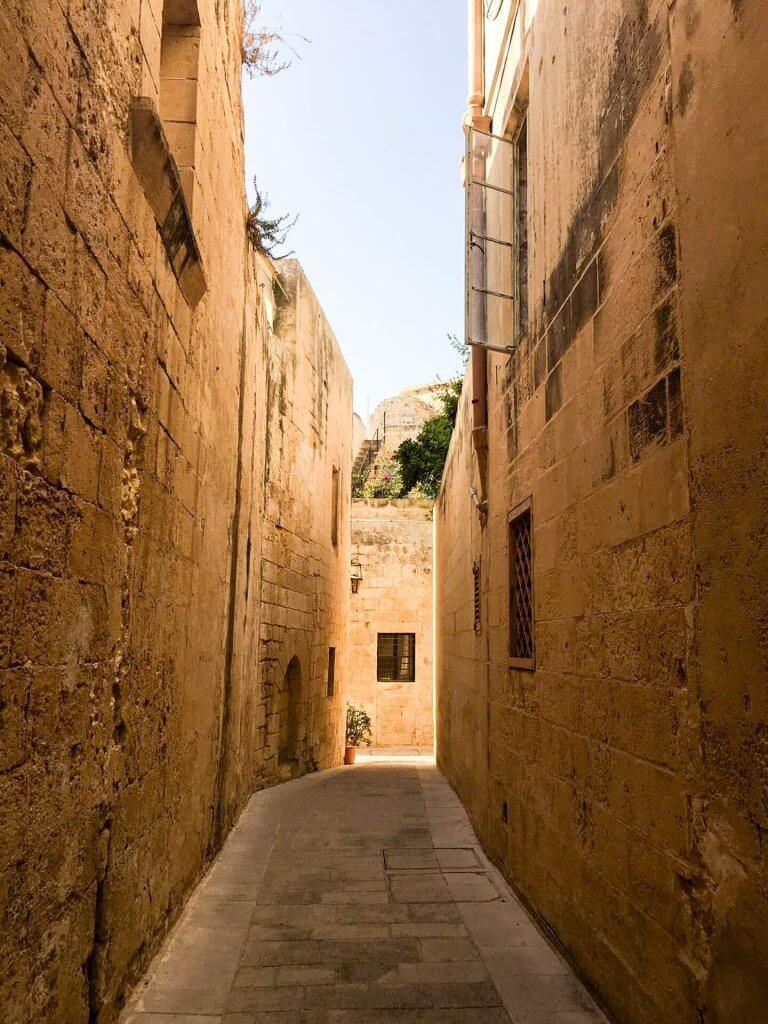 vicoli Mdina a Malta