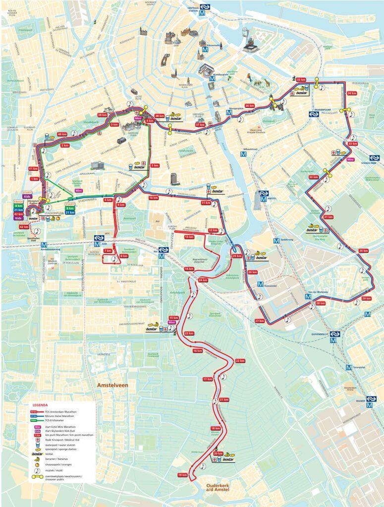 Percorso maratona Amsterdam